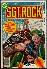 DC Comics SGT ROCK #316 VFN- 7.5