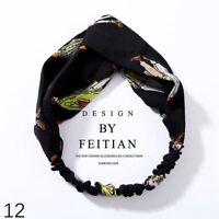 Women Girls Cloth Turban Twist Head Knot Headband Wrap Twisted Hair Band Gift