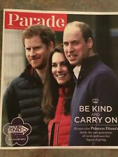PRINCE HARRY Prince William & Kate Parade Magazine August 2017 20 Years After Di