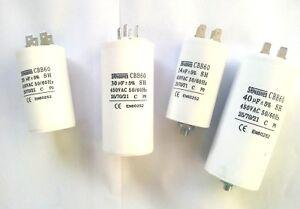 Betriebs/Motorkondensator 1,0 µF - 80 µF mit Steckanschluß,TOP,NEU