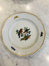 Meissen Bird Plates 438d 62.  Set 4
