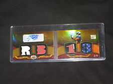 RAMSES BARDEN TRIPLE THREADS AUTHENTIC SIGNED GAME USED JERSEY FOOTBALL CARD 2/9
