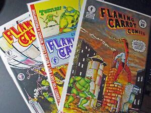 Flaming Carrot #25, 26, 27 w/ Teenage Mutant Ninja Turtles 1991