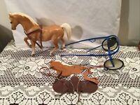 Breyer Harness Race Cart Saddles Traditional Some Repairs w Arabian #7 Stallion