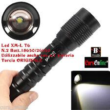 Torcia LED CREE XM-L T6 Sezionabile 2 Batterie 18650 Luce Bianca MQ-2663 Potente