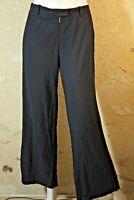 IRO IWATA Taille 36 Superbe pantalon habillé noir femme laine mélangée trousers