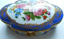 Limoges New Genuine Porcelain Original Large Dresser Box Rare Peint Main France