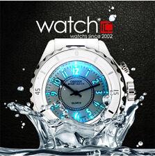 Black/White Men Ladies LED Backlight Quartz Sport Watches Waterproof Watch New