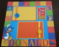 Disney Mickey Mouse Clubhouse Donald Duck Scrapbook Page 12x12 Disneyland Layout