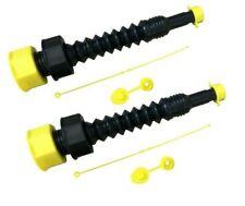 The Original Ez-Pour® Gas Can Spout Flexible Universal Replacement Kit 2 Pack