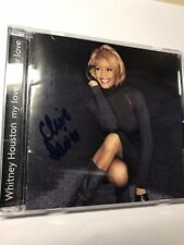Whitney Houston CD - my love is your love - signed Clive Davis autograph 1998