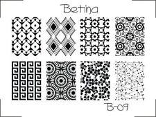 Plaque stamping BETINA B09