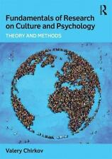 FUNDAMENTALS OF RESEARCH ON CULTURE AND PSYCHOLOGY - CHIRKOV, VALERY - NEW PAPER
