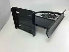 Black Mailbox Mount with Name and Address Plate