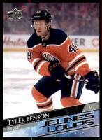 2020-21 UD Series 1 French Young Guns #218 Tyler Benson RC - Edmonton Oilers