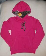 NWT Youth Girls Mossy Oak BROWNING Pink Fushia Camouflage Hooded Sweat  MEDIUM