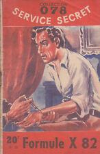 C1 Maurice LIMAT  - FORMULE X 82 078 Service Secret 1952