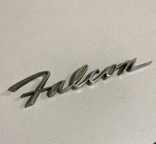 FALCON Boot Lid Badge , Genuine FORD XK Tailgate Fordomatic Deluxe Script Trunk