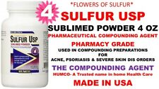 4 Humco Sulfur Sublimed Powder USP 4 oz Acne, Severe Psoriasis Exp. Date 08/2022