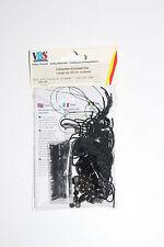 kit pour fabrication collier de 43 cm de long environ de couleur noire