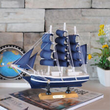 Handcrafted VINTAGE Nautical Decor Wooden Ship Sailboat Boat Model Decor #1