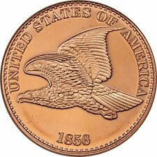Lot of 100 FLYING EAGLE DESIGN 1 OZ Ounce Of Copper Bullion ROUNDS