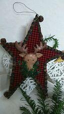 Deko stern aus Holz  Weihnachtsdeko Glöckchen Elch Hirsch