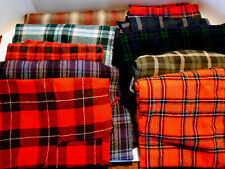 Lot of plaid remnants 7 wool, 3 wool blend quilting crafts costumes 6 lbs