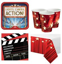 Hollywood al cinema Tappeto Rosso Compleanno Festa Party Kit stoviglie