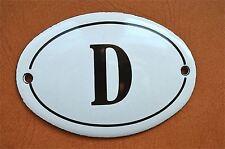 Piccolo Stile Antico Smalto Metallo Segno D la placca Porta Placca Segno Furniture