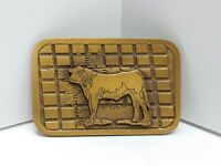 Cow Cattle Ranch Farm CD Hit Brass Belt Buckle Beef Hereford Angus Heifer USA