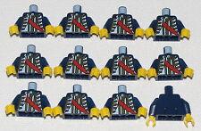 LEGO LOT OF 12 PIRATE GOVERNOR IMPERIAL MINIFIGURE TORSOS PIECES