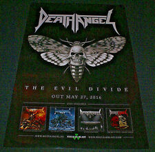 """Death Angel The Evil Divide 2016 Ltd Ed Rare New Poster 11"""" X 17"""" Fast Shipping!"""