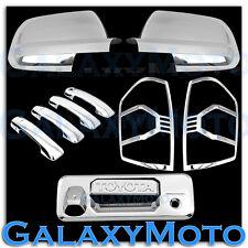 14-16 Toyota TUNDRA CrewMax Chrome Mirror+4 Door Handle+Tailgate+Taillight Cover