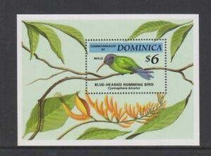 Dominica - 1994, Endangered Species, Hummingbird sheet - MNH - SG MS1807a