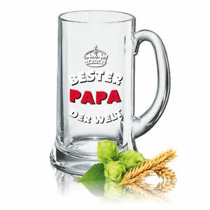 Bierglas Bierkrug Humpen 0,5L - Dekor: Bester Papa der Welt