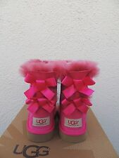 UGG CERISE PINK BAILEY BOW SHEEPSKIN BOOTS, TODDLER GIRL US 8/ EUR 25 ~NIB