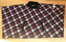 Fervour ModCloth Poncho Sweater Red Plaid Size 1X/2X Plus