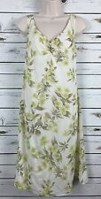 Tommy Bahama Women's Size 10 / M 100% Silk Floral Print Sleeveless V Neck Dress