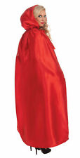 Adult Full Length Red Masquerade Cape Riding Hood Cosplay Larp