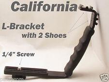 """1/4"""" L Shape 2 Cold Shoe Bracket Mount Stand Holder LED Video Pentax Hot Camera"""