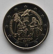 SLOVAKIA - 2 € commemorative euro coin 2017 Universitas Istropolitana UNC