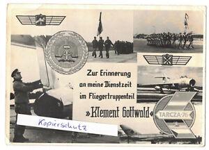 Foto Ak NVA Erinnerung Dienstzeit Fliegertruppenteil Klement Gottwald Tarcza 76