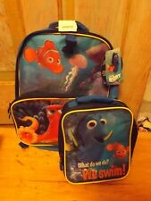Nwt Disney Finding Dory Nemo Backpack With Insulated Lunch Bag Box