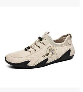Men's Leather Slip On Boat Deck Moccasin Designer Loafers Driving Slip On Shoes