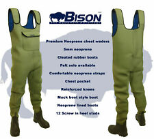 NEOPRENE CHEST WADERS, BISON 5mm STANDARD OR FULL BODIED