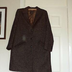 Fat Face Womens Brown Herringbone Wool coat.size 16