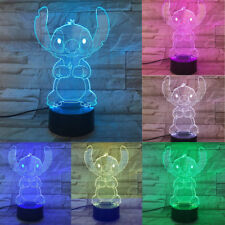 2019 Lilo Stitch 3D Acrylic LED 7 Colour Night Light Touch Table Desk Lamp Gift