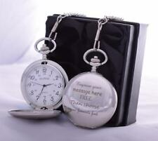 LASER Engraved Pocket Watch in Gift Box For 18th/21st/30th/40th/50th Birthday