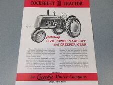 Rare Cockshutt 30 Farm Tractor Brochure